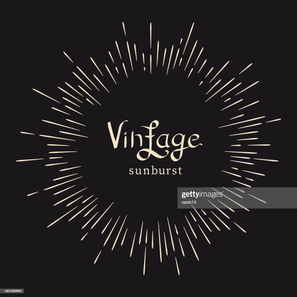 Vintage monochrome starburst