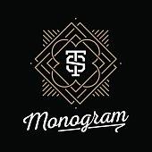 vintage monogram