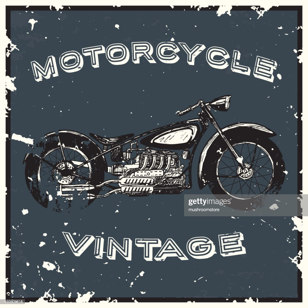 Vintage motorcycle label.
