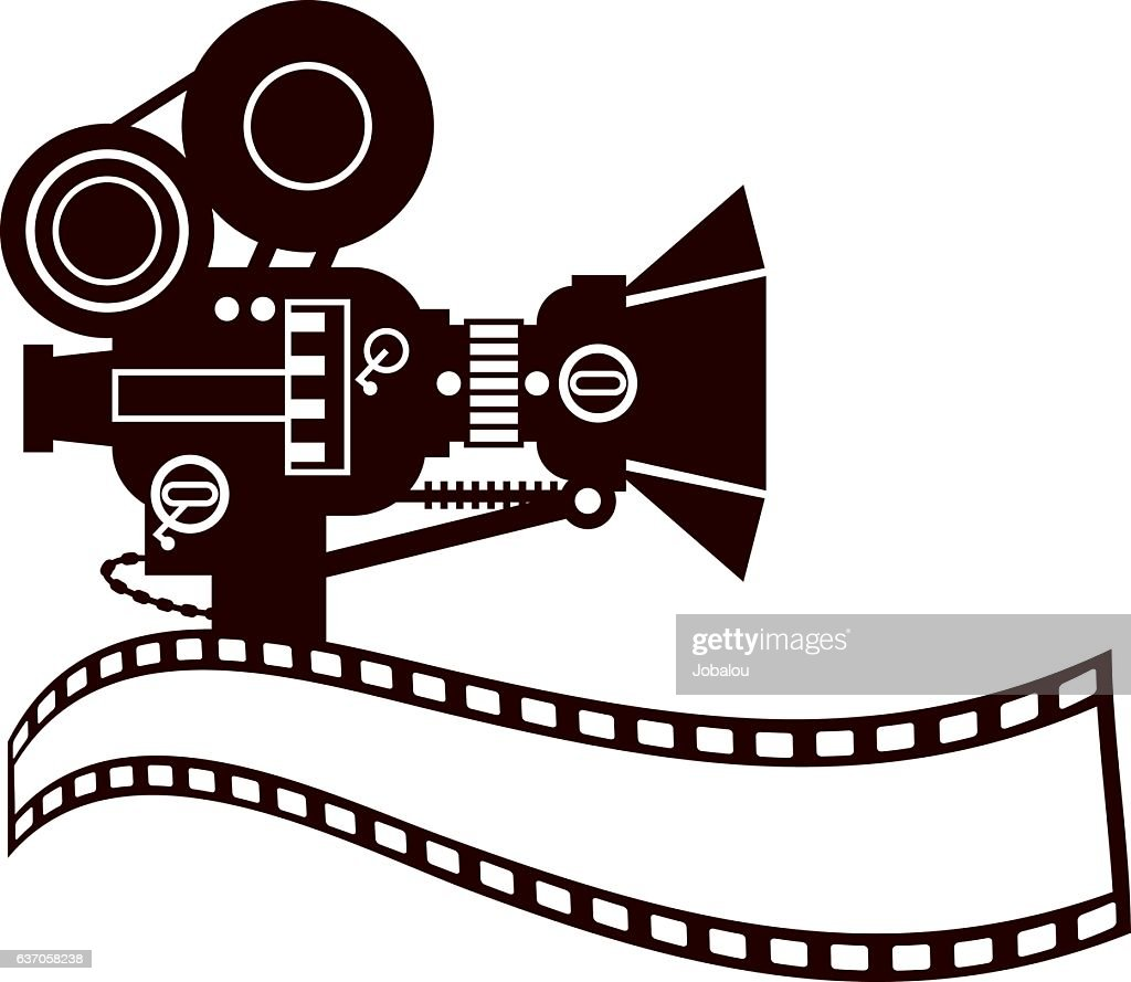 vintage movie camera clip art vector art getty images rh gettyimages com clipart of camera lens clipart of a camera