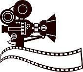 Vintage Movie Camera Clip Art