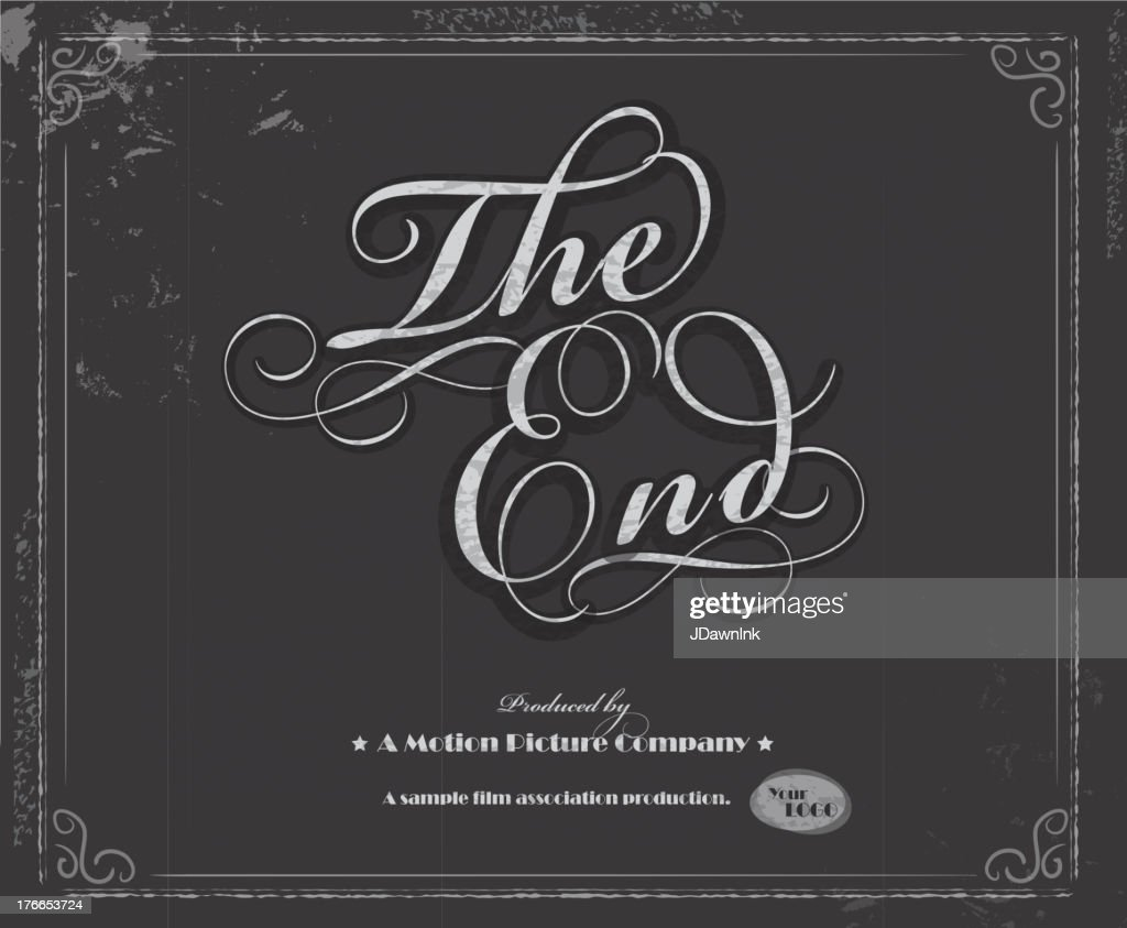 vintage movie the end screen design template vector art getty images