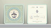 Vintage Nautical Anchors Wedding Invitation Card in Classic Style