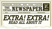 Vintage Newspaper clipping design