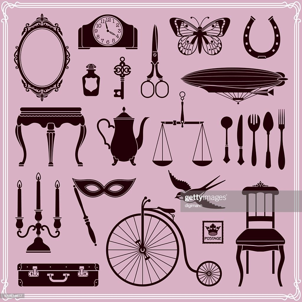 Vintage Objects and Icons Set 2