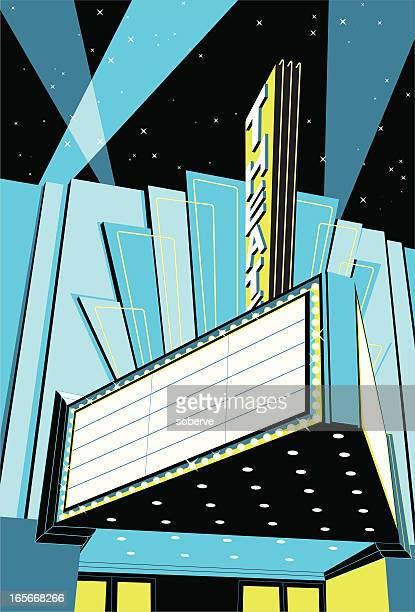 A vintage old signed movie theatre cinema