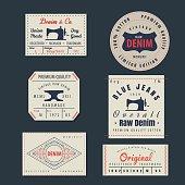 vintage original blue jeans raw denim labels,genuine exclusive b