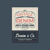 vintage  original blue jeans raw denim labels,genuine exclusive