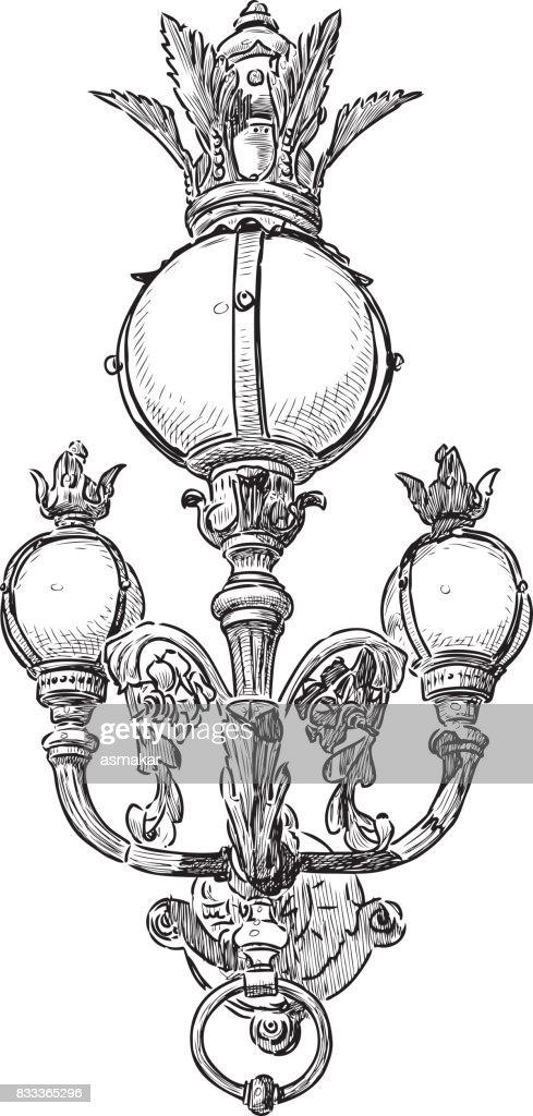Vintage ornate streetlight