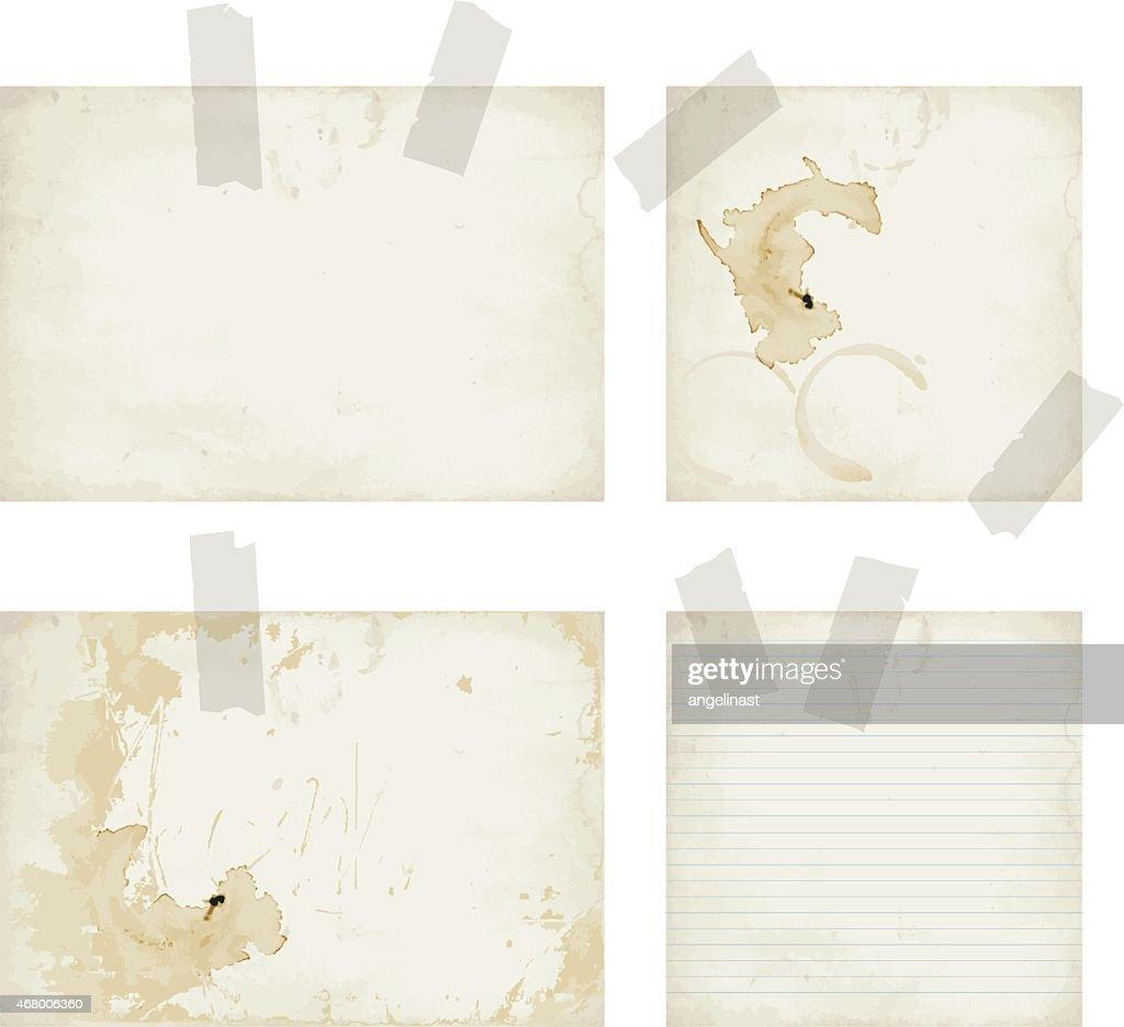 Vintage paper set