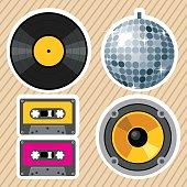 Vintage party design elements.