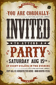 Vintage Party Invitation Background