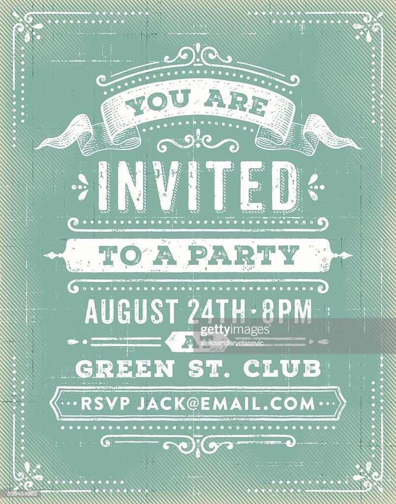 ヴィンテージのパーティの招待状 : ストックイラストレーション