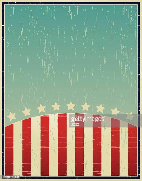 A vintage patriotic poster design