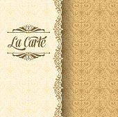 Vintage Pattern Menu Invitation