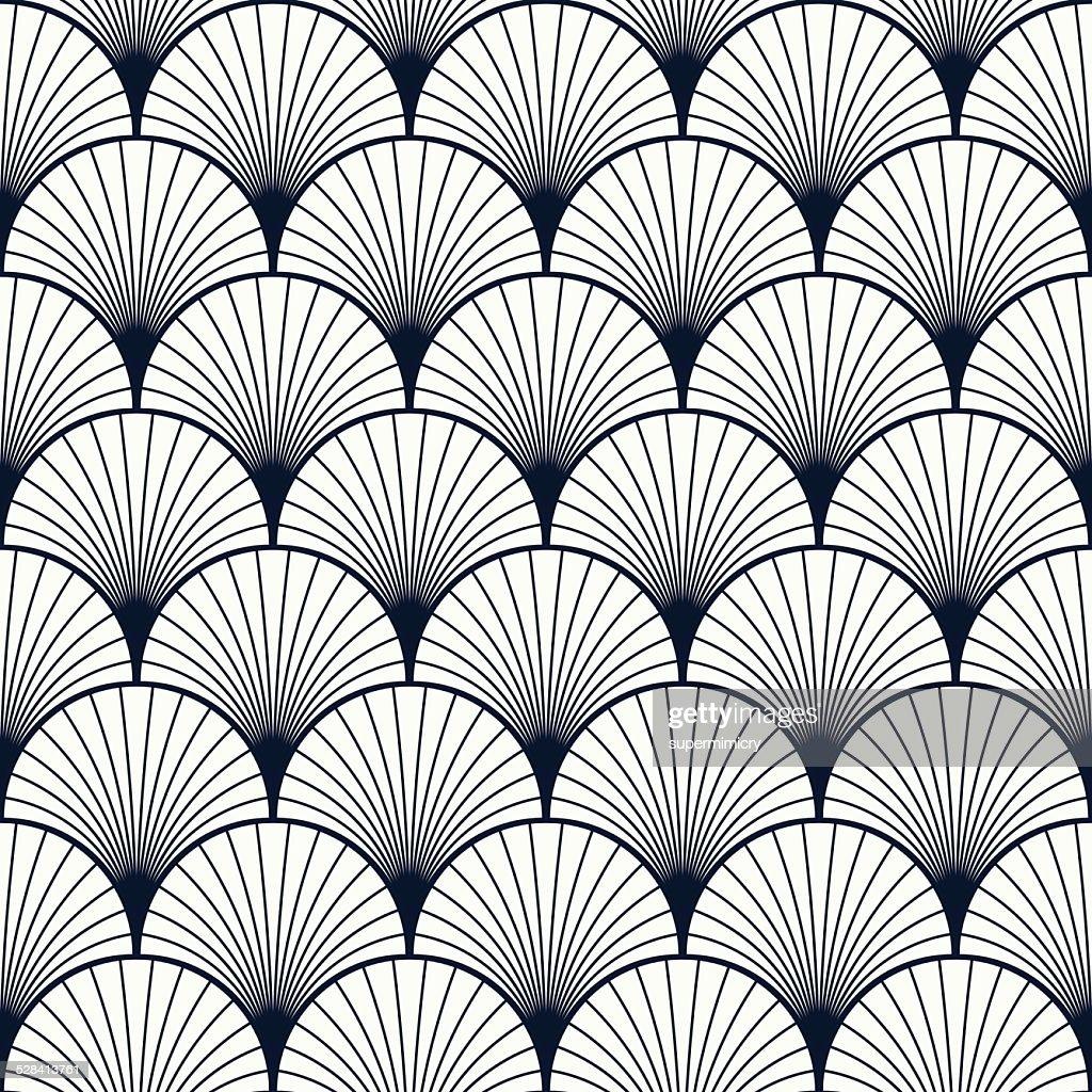 vintage pattern of shells