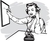 vintage phone secretary