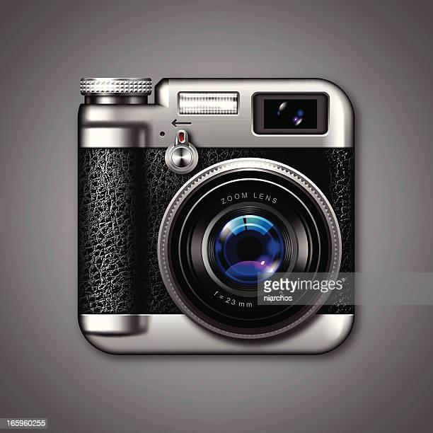 ilustraciones, imágenes clip art, dibujos animados e iconos de stock de iconos de cámara de foto de época - camara reflex