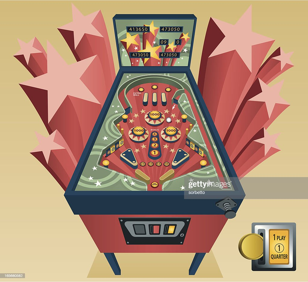 pinball machine stock illustrations and cartoons getty images