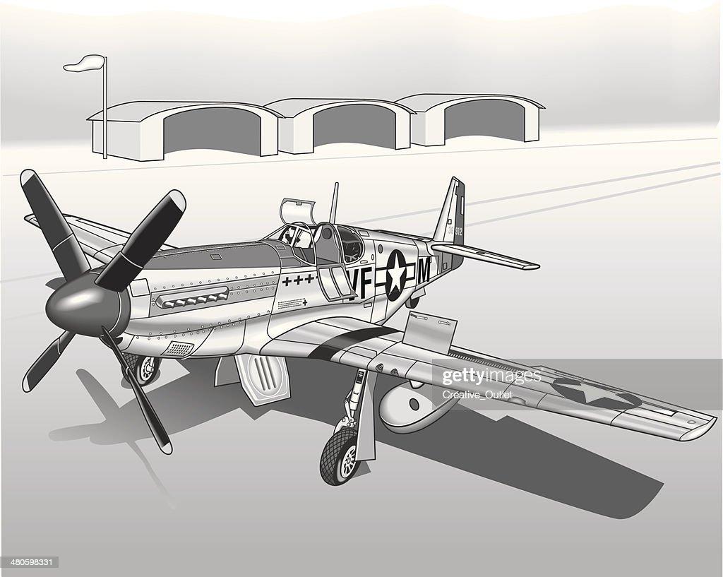 Vintage Plane : Vector Art