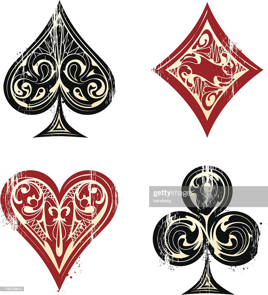Vintage Playing Cards Sybmols
