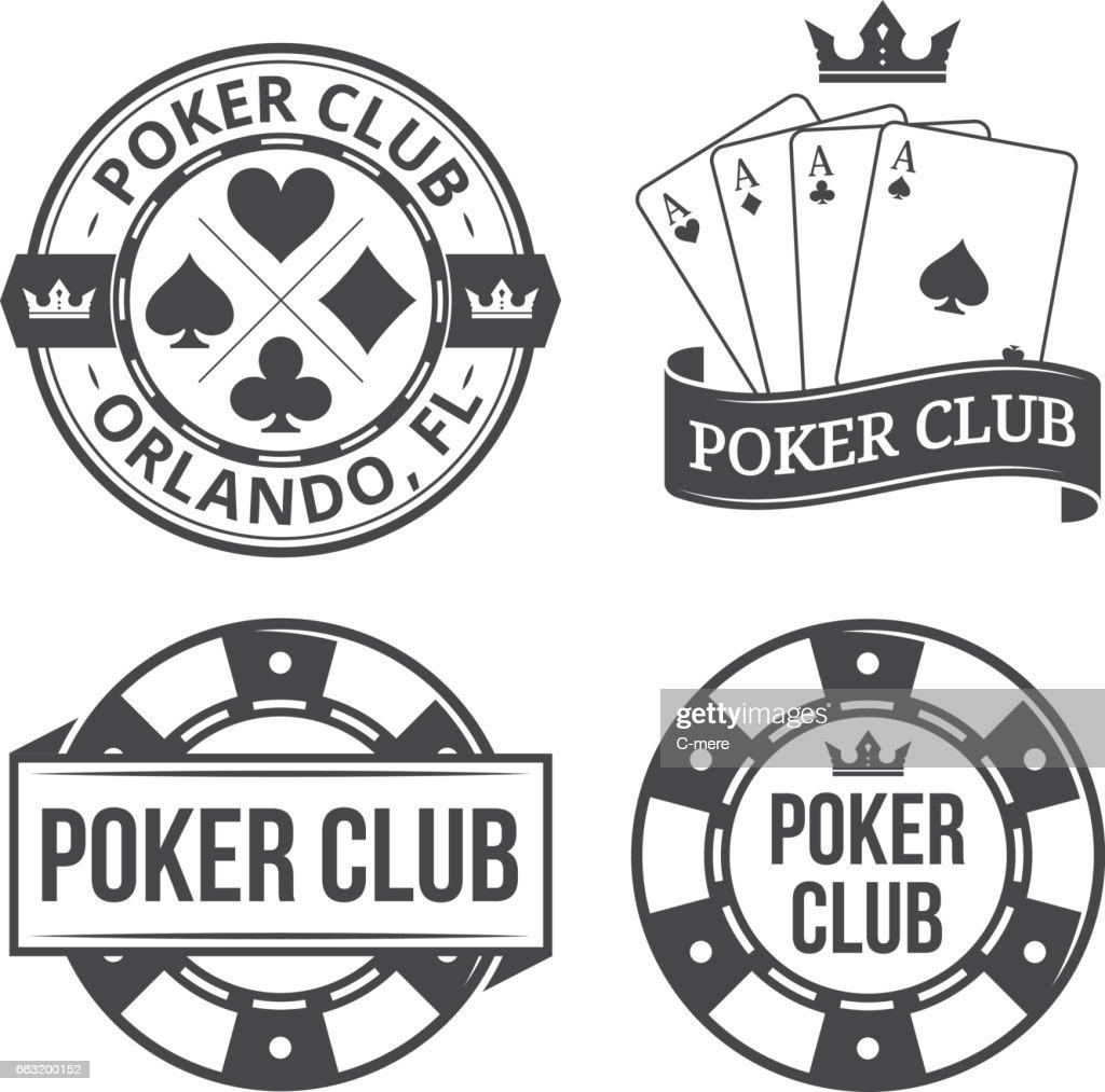Vintage poker emblems