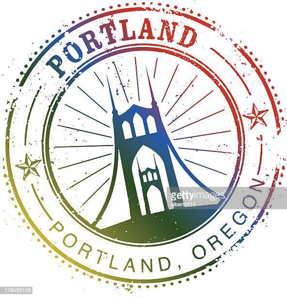 Vintage Portland Stamp