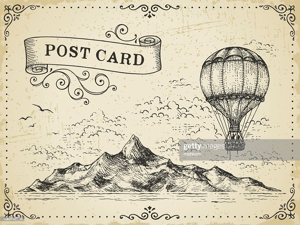 Vintage Post Card : stock illustration