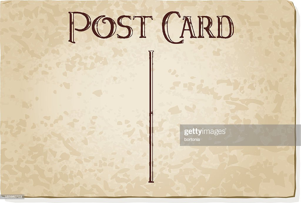 Vintage Postcard Template Vector Art  Getty Images