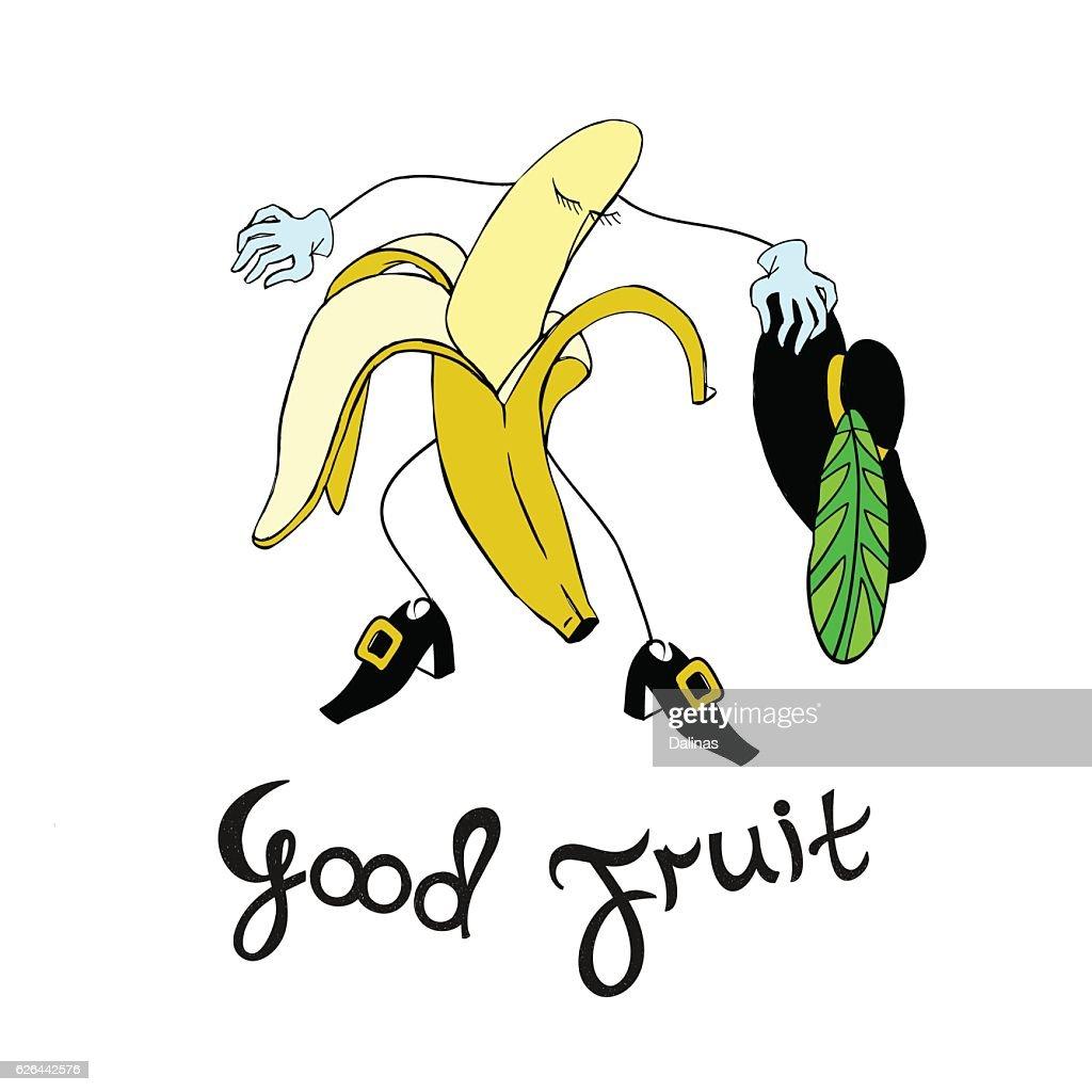 Vintage poster design with Banana