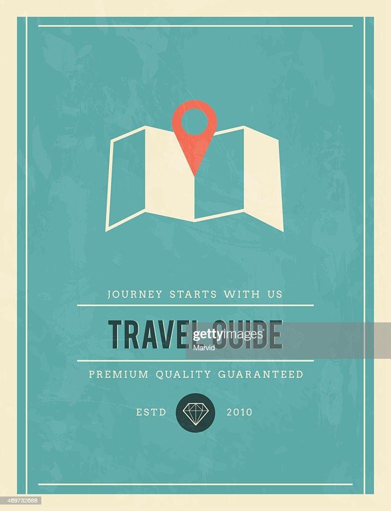 vintage poster for travel guide
