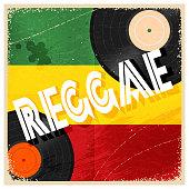 Vintage poster reggae. Rastaman color