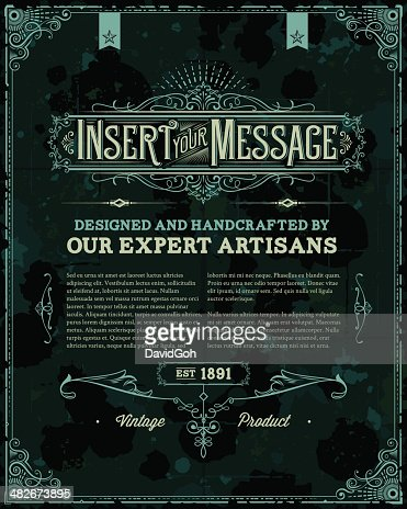 Vintage Poster Template Vector Art | Getty Images