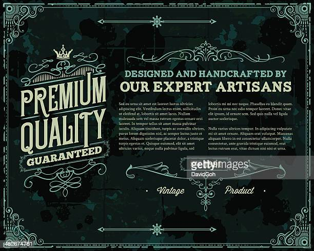 A Vintage Poster Template Discussing The Premium Quality Vector Art ...