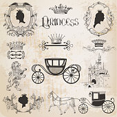 Vintage Princess Girl Set
