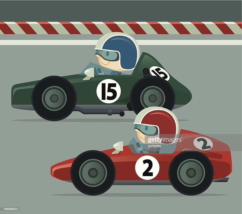 Vintage Race Car High Res Vector Graphic Getty Images