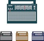 Vintage radio receiver.