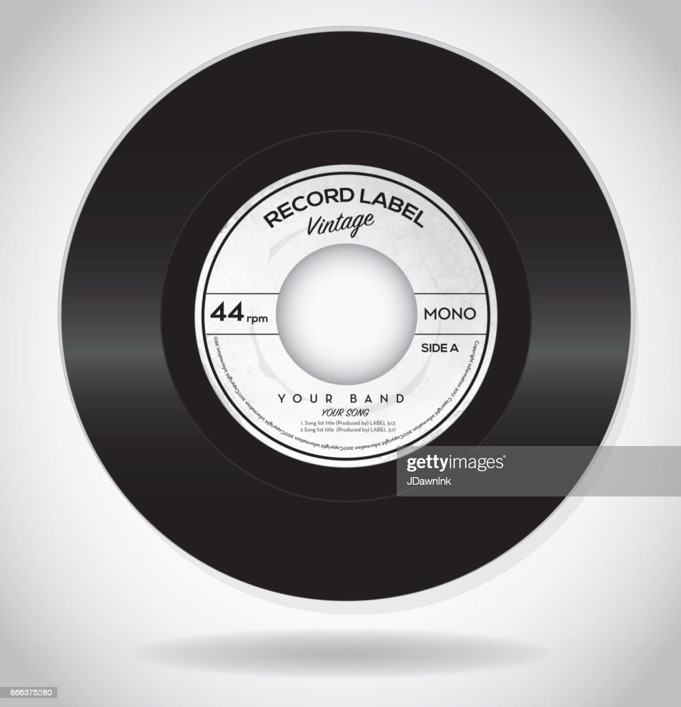 Vintage Record Label Design Template Vector Art | Getty Images