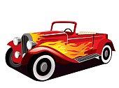 Vintage Red Hotrod