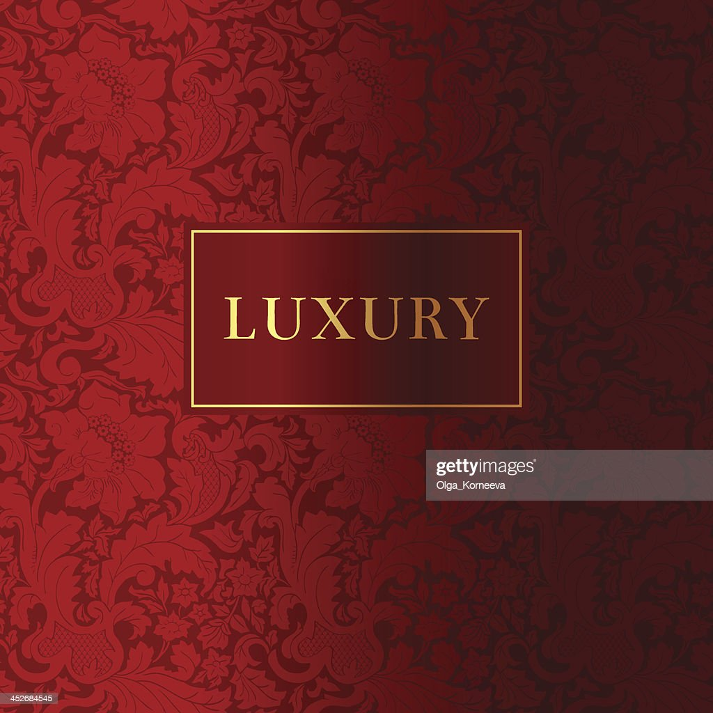 Vintage red luxury and gold background