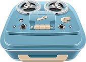 Vintage reel-to-reel audio tape recorder