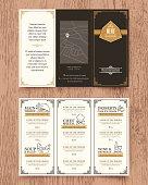 Vintage Restaurant menu design pamphlet template