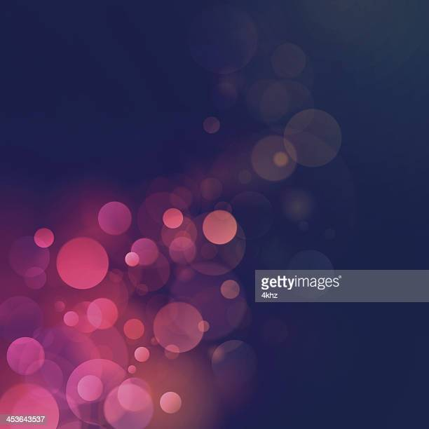 Vintage Retro Bokeh Blurry Lights Vector Background