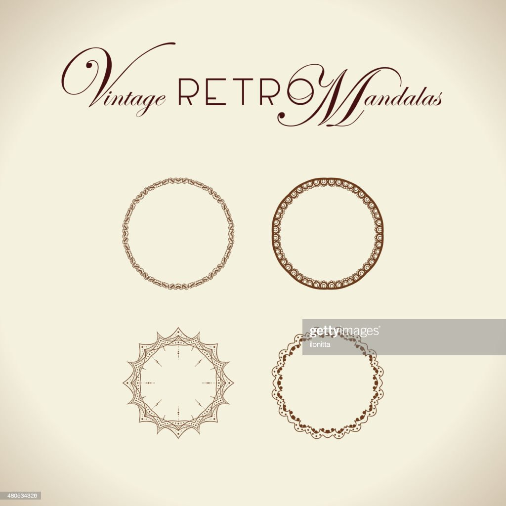 Vintage retro mandala design. : Vector Art