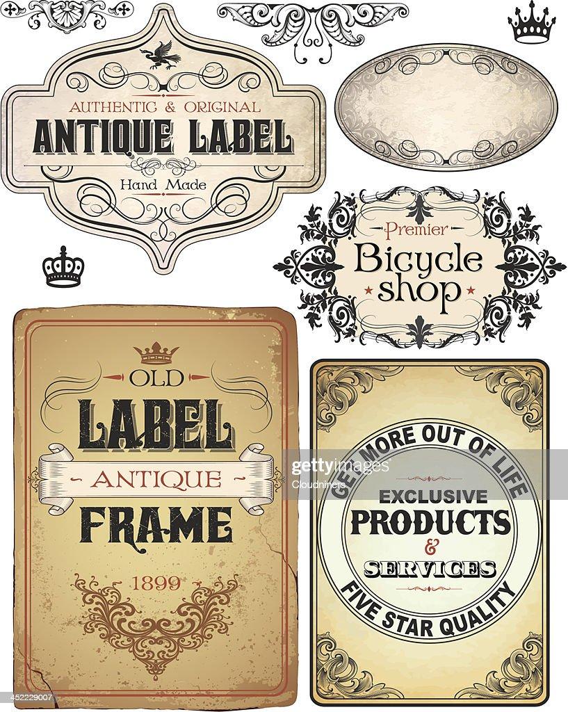 vintage retro Parchment Text Banners