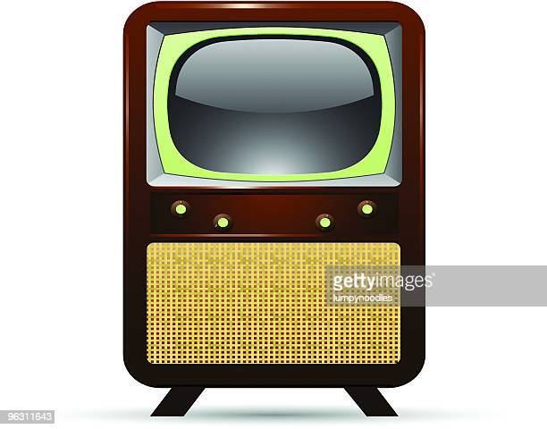 vintage retro television - scottish tweed stock illustrations, clip art, cartoons, & icons