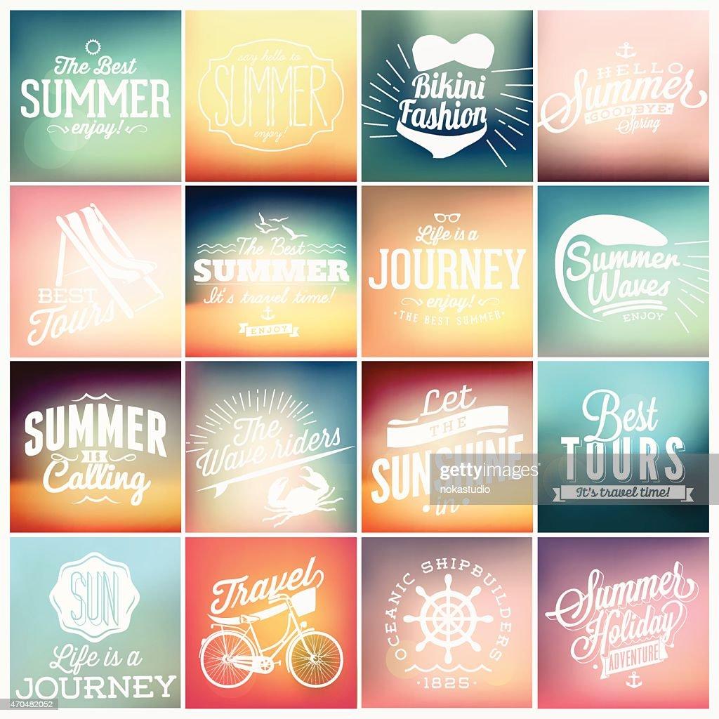 Vintage Retro typographic design for summer