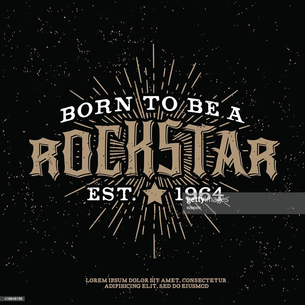 vintage rock label