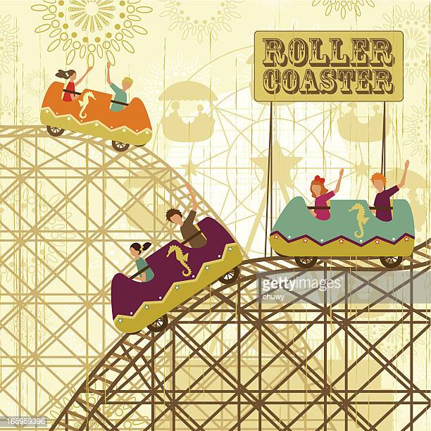 Retro roller coster