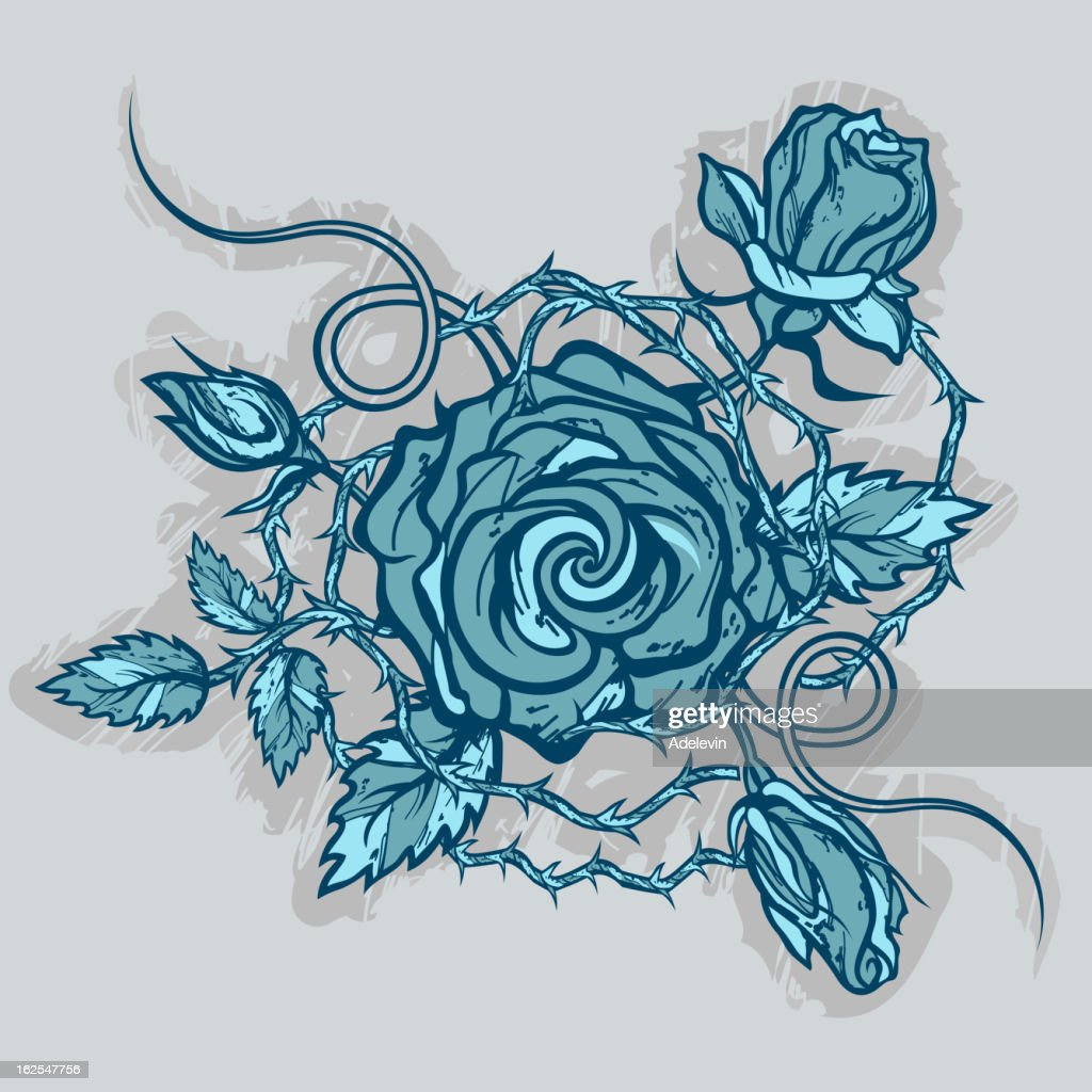 Vintage roses tattoo